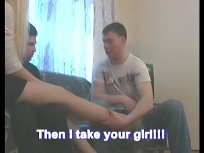 Joven rubia forzada de sexo duro