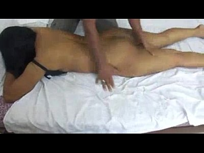 my wife getting a massage