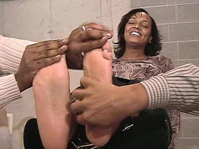 ebony tickled