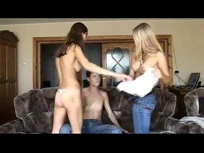 Irina olya - dos hermosas chicas rusas que tener un trío