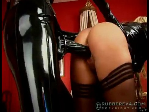 Black rubber lesbian orgy