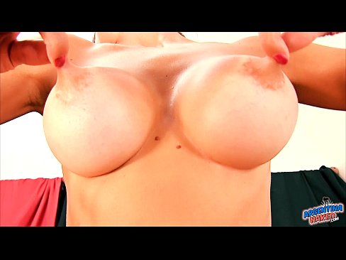 Brunette mother with large wet tits