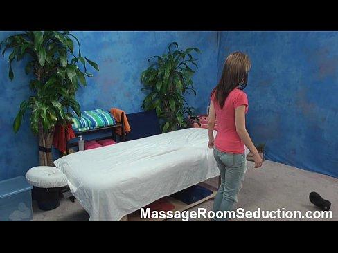 Brunette teen babe hidden cam massage room fucking